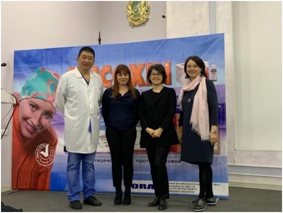 Презентация в  на базе КазНИИОР и Облонкодиспансера, г. Алматы